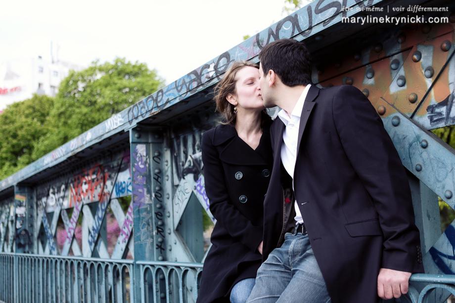 Séance en amoureux à Montmartre