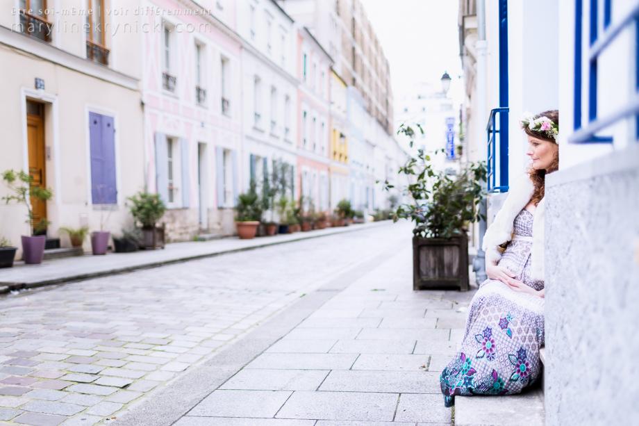 Femme enceinte à Paris