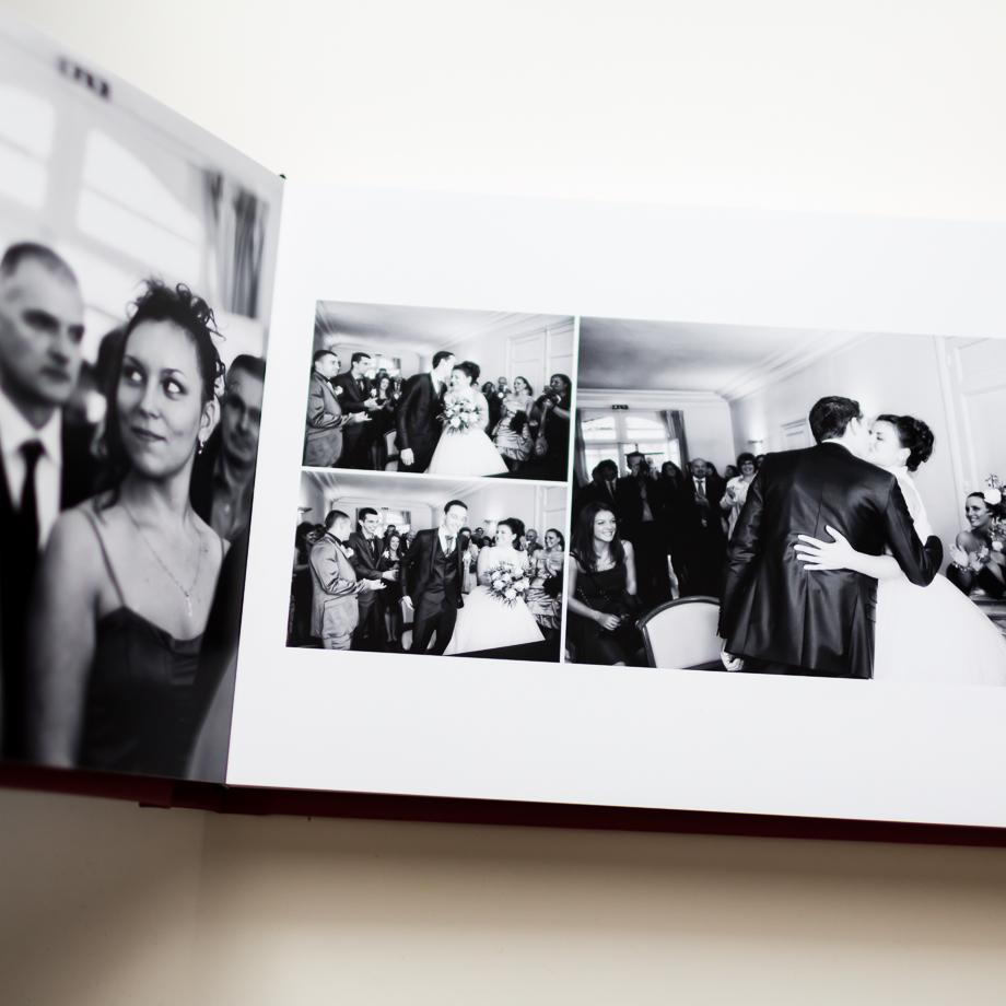 Le livre des mariés ouverture à plat