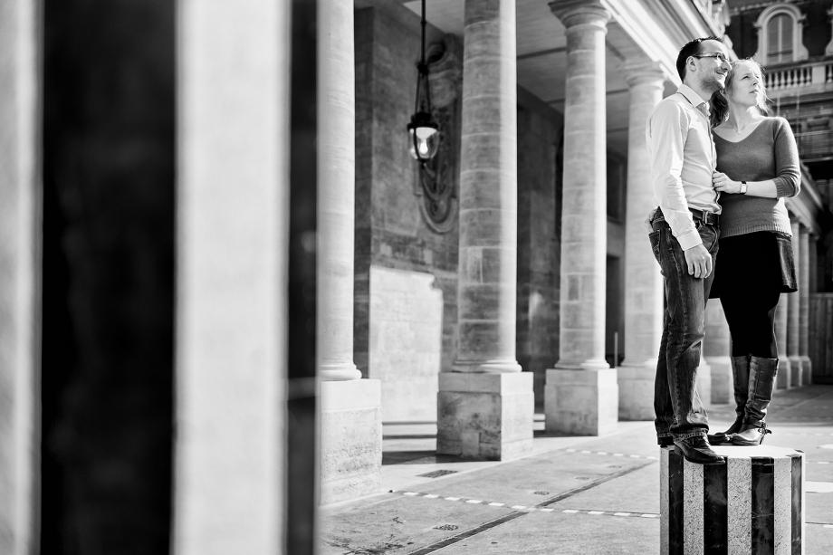 Séance couple avant le mariage à Paris